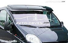 Козырек ветрового стекла солнцезащитный для Renault Trafic (установка на кронштейны)