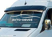 Козырек ветрового стекла солнцезащитный для VolksWagen Crafter 2011-2016 (установка на кронштейны)