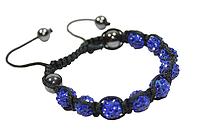Браслеты Шамбала (кружки) Синий