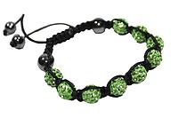 Браслеты Шамбала (кружки) Зеленый