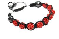 Браслеты Шамбала (кружки) Красный