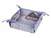 Хлебница текстильная LiMaSo Лаванда и красные сердечки, арт. LS-HL006