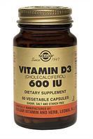 Витамин Д3 капс. 600 МЕ N60 фл., Солгар / Solgar
