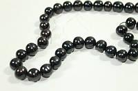 Жемчуг Натуральный Ø9-10 (Luxe) Черный Поштучно