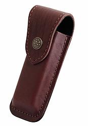 Чехол для складного ножа, кожаный средний-XL (КОРИЧН) -B НА КНОПКЕ