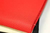 Канва вышивальная (цветная) Красная 15см х 20см