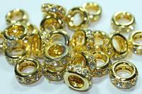 Колечки (с розсыпью) Золото 12мм (мал)
