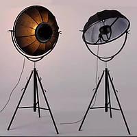 Напольный светильник loft (торшер) [ Lamp Photographer Black Construction ]