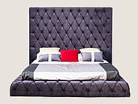 Кровать двуспальная Грегори с подъемным механизмом 1800х2000 мм (2000х2300х1850 мм) ткань бархат