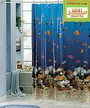 Вінілова шторка для ванної кімнати Shower curtain, розмір 180х180 див., фото 6