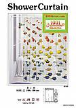 Вінілова шторка для ванної кімнати Shower curtain, розмір 180х180 див., фото 7