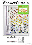 Виниловая шторка для ванной комнаты Shower curtain, размер 180х180 см., фото 3