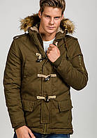 Зимняя мужская куртка парка оливкового цвета XXL Denley, фото 1
