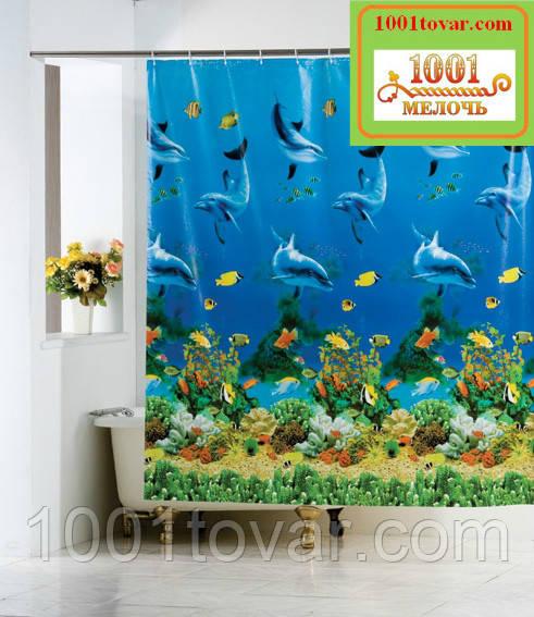 Виниловая шторка для ванной комнаты Shower curtain, размер 180х180 см.