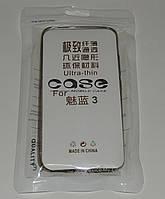Чехол бампер силиконовый для Meizu M3\3S серый  УЛЬТРАТОНКИЙ