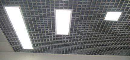 Потолочные светильники Грильято светодиодные