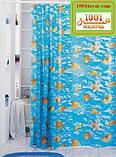 Вінілова шторка для ванної кімнати Shower curtain, розмір 180х180 див., фото 4