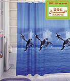 Вінілова шторка для ванної кімнати Shower curtain, розмір 180х180 див., фото 3