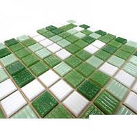 Зеленая мозаика для стен Vivacer GLmix30