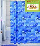 Вінілова шторка для ванної кімнати Shower curtain, розмір 180х180 див., фото 2
