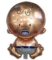 Воздушный шарик из фольги Карапуз мальчик 67 х 45 см.