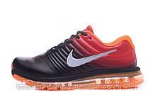 Nike air max 2017 кроссовки мужские кожаные черно-оранжевые