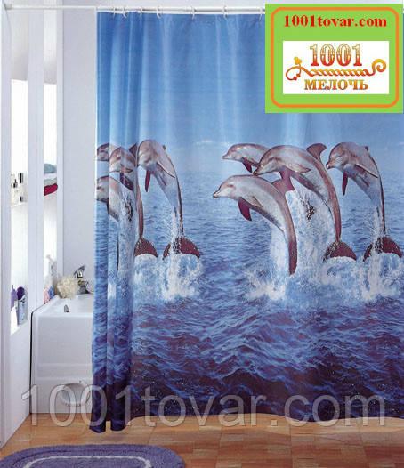 Вінілова шторка для ванної кімнати Shower curtain, розмір 180х180 див.
