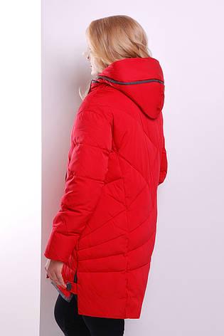 Зимняя женская куртка красная, р.44,46, фото 2