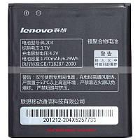 Аккумулятор BL204  для мобильного телефона Lenovo A765e, (Li-ion 3.7V 1700mAh)