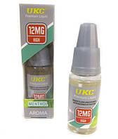 Жидкость для электронных сигарет UKC MENTHOL Ментол с никотином 10ml/12mg SKU0000394
