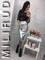 Женская модная юбка - карандаш с карманами (расцветки)