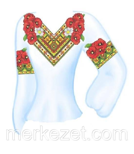 """Схема для женской вышиванки """"Цветочный ромб"""""""