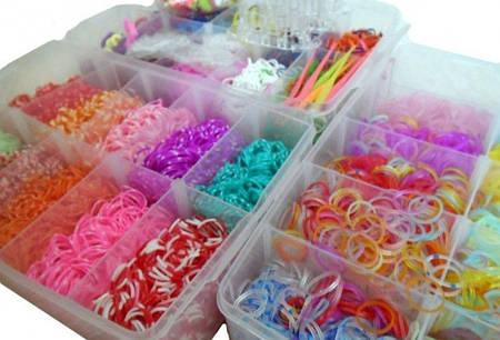 Набор резинок для плетения, Rainbow Loom bands 10000шт.