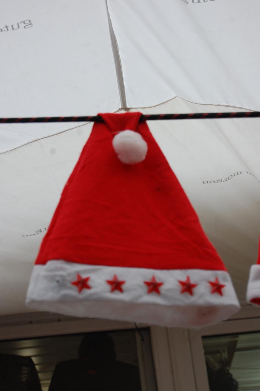 Шапочка новогодняя Красная светящаяся, фото 1