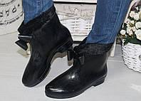 Женские стильные резиновые сапожки