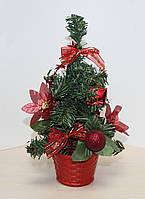 Новогодняя искусственная елочка, высотой 25 см. Красные украшения. В НАЛИЧИИ 2 ШТ