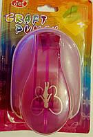 Фигурный дырокол (компостер) Девочка-бабочка 4 см