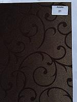 Рулонная штора Амелия темно коричневый