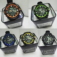 Часы K-Sport 899 электронные + кварцевые в железной подарочной коробке.