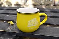 Кружка винтажная Zakka желтая, 450мл