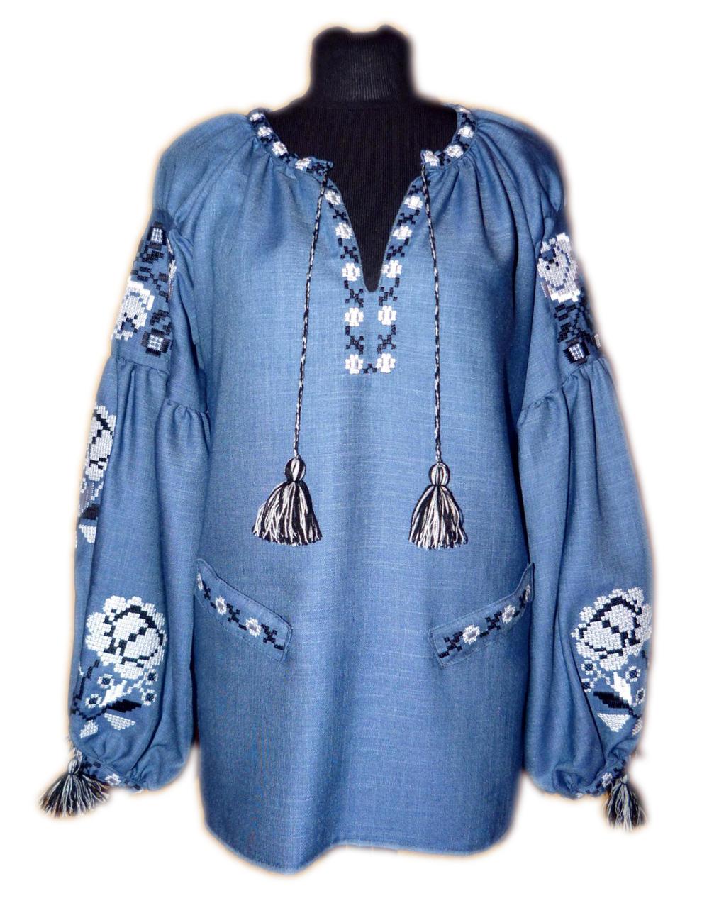 """Жіноча вишита сорочка (блузка) """"Кармель"""" (Женская вышитая рубашка (блузка) """"Кармель"""") BK-0034"""