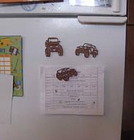 Джип магнитики на холодильник