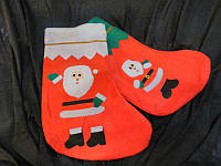Сапожок новогодний подарочный с изображением Деда Мороза