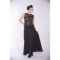 Платье  кружево Арефьева черное, длинное, летнее  Арт. 2080, фото 1
