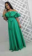 Женское длинное модное платье из софта (3 цвета)