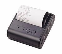 Портативный Термо Принтер чеков 80мм + ЧЕХОЛ (BLUETOOTH+USB+COM)