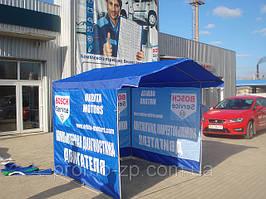 Торговые палатки с печатью.