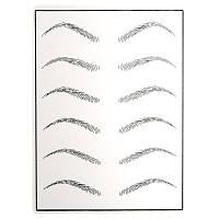 Тренировочный коврик для перм макияжа брови с маркировкой