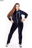 Женский велюровый спортивный костюм Большие размены 46-60 NMбат316