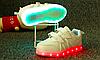 Детские Светящиеся LED кроссовки LEDKED Kids V White и Black черные и белые